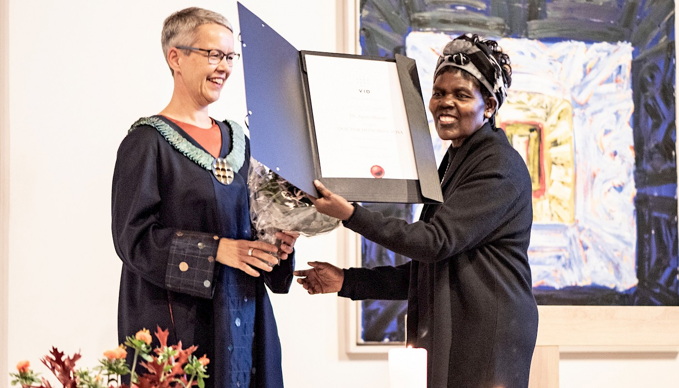 Dr. Agnes Abuom awarded an honorary doctorate