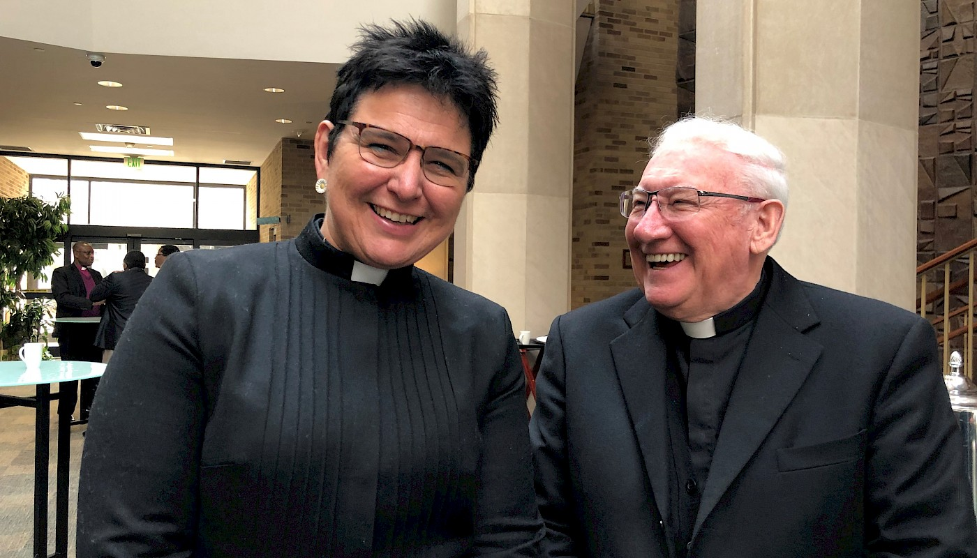 Professor Stephanie Dietrich and Bishop Brian Farrell, Secretary of the Pontifical Council for Promoting Christian Unity
